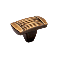 Cabinet Knob - 37mm - Antique Brass Fin