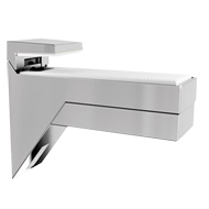 KALABRONE Shelf Support - 8-30mm - Silver & White Finish