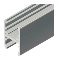 Kit H Horizontal Profile - 2Mtr - Aluminium Finish
