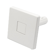 Push Square Hook - Matt Brushed Nickel