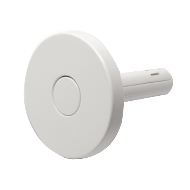 Push Round Hook - White Colour