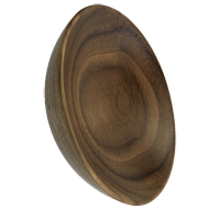 BOWL Cabinet Knob -  OAK LACQ  -  H20mm, Dia : 65mm