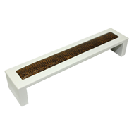 Cabinet Handle - 169mm - White & Brown Colour