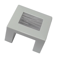 Cabinet Knob - 41mm - High Gloss White with Transparent Clear Glass Finish