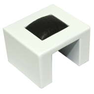 Cabinet Knob - 41mm - White & Black Colour