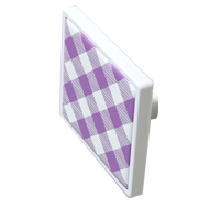 Purple and White Chequered Ca