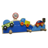 Kids Colorful Car Hook - 3 Peg - Multicolored Finish