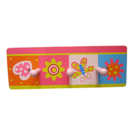 Kids Colorful Hook - 3 Peg - Multicolou