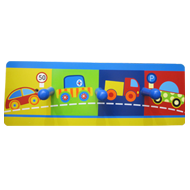 Kids Colorful Car-train Hook - 3 Peg - Multicolour Finish