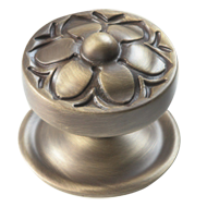 GARDEN Door Knob with Rose - 95mm - Yester Bronze Finish