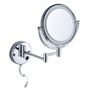 Round Cosmetic Mirror with Led Light - Polished Chrome Finish