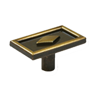 Cabinet Knob - 44mm - Antique Brass Fin