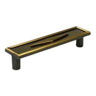 Cabinet Handle - 108mm - Antique Brass Finish
