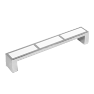 Cabinet Handle - 136mm - White & Bright