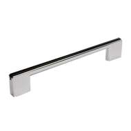 Cabinet Handle + Insert - 168mm - Black & Bright Chrome Finish