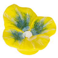 Kids Pansey Cabinet Knob in Yellow Colo