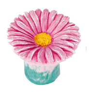 Kids Daisy Cabinet Knob in Pink Colour