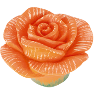 Kids Rose Cabinet Knob in Orange Colour