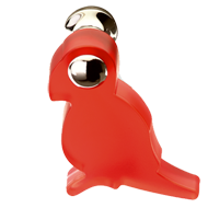 Red Parrot Kids Cabinet Knob