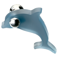 Beautiful Blue Dolphin Kids Cabinet Knob