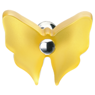 Yellow Butterfly Cabinet Knob