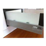 HIGH FRONTED Soft Closing Kitchen Drawer System - 176mm - Dark Grey Finish