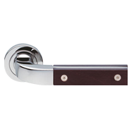 Lever Handle in Satin Chrome & Wenge Fi