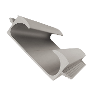 Aluminium Profile Handle - Aluminum Finish - Length - 3 Mtr.