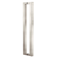 Door Pull Handle - 600mm - Black Chrome