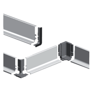Aluminum Grip J Profiles for Drawer - Polished Chrome - 3 Mtr.
