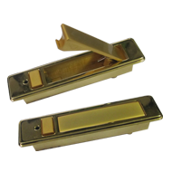 Cabinet Flush Handle with Key in Gold Finish
