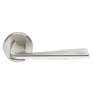 Door Lever Handle - Satin Chrome/Chrome Finish