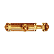 Praga Tower Bolt - Old Gold Finish