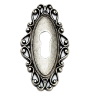 Key Hole - 60mm -  Old Silver Finish