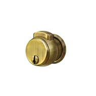 Bathroom Press Button Cylindrical Lock - Antique Brass Finish