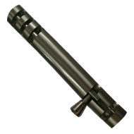 Oval Tower Bolt - 4 Inch - Stainless Steel Finish - Brass Material