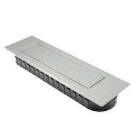 Cabinet Flush Handle Satin Steel Finish - 132mm