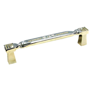 Door Pull Handle with Crystal Chrome Plated finish 256mm