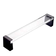 Transparent Glass Door Pull Handle 300mm in Chrome Finish