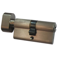 High Security Cylinder with Turn Knob - 60mm - Satin Nickel Finish