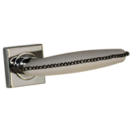 Lever Handle in White & Chrome Plated Finish