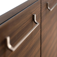LEAN Cabinet Handle - 160mm - Bright Chrome finish Modern Design