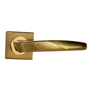 TWIST Lever Handle on rose Gold Finish