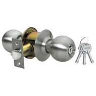 Cylindrical Entrance Lock - Stainless Steel Finish
