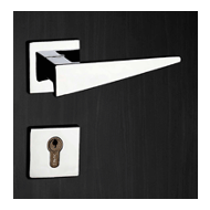 Door Lever Handle - Chrome Plated/Satin