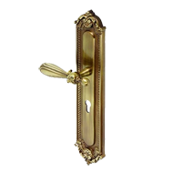 Door Lever Handle On Plate - 430mm - Antique Bronze Finish