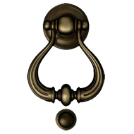 Door Knockers - 150mm - Antique Bronze Finish