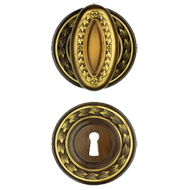 Door Knob - 76mm - Antique Bronze Finish