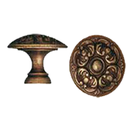 Cabinet Knob - 40mm - Antique Bronze Fi