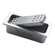 METAL CAST Flush Square Cabinet Handle - 52mm - Aluminium Coloured